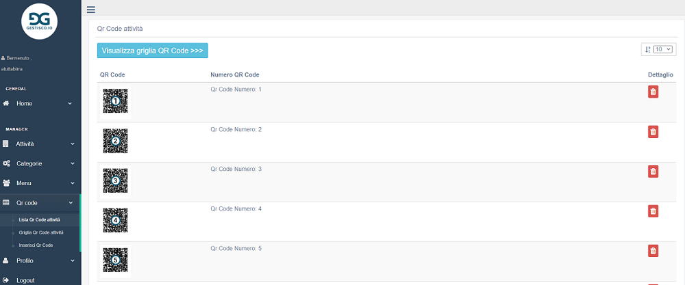 Come modificare i propri qr code sul nostro servizio